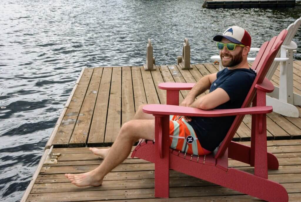 Lounging on the dock