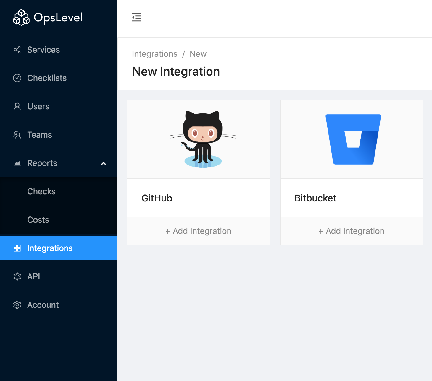 Check code within GitHub or Bitbucket